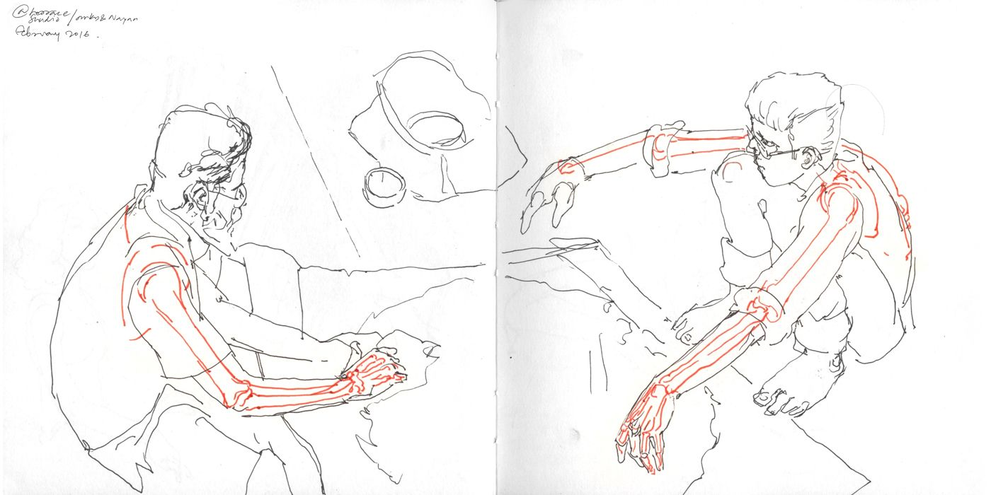 Studio. Study from live sketching and Anatomy from Victor Perard ...