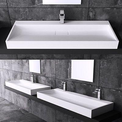 Durovin Bathroom Rectangle Stone Wall Mounted Or CounterTop Wash Basin Sink D819 | Home, Furniture & DIY, Bath, Sinks | eBay!