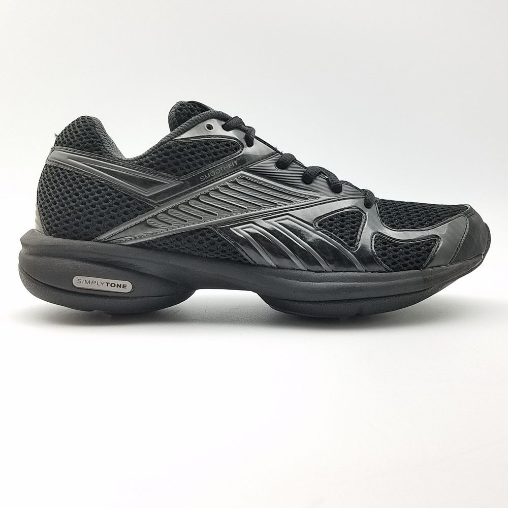 5ace03ee18a Reebok Womens Simply Tone Running Athletic Sneakers Black   Silver Size 8   Reebok  LowTop