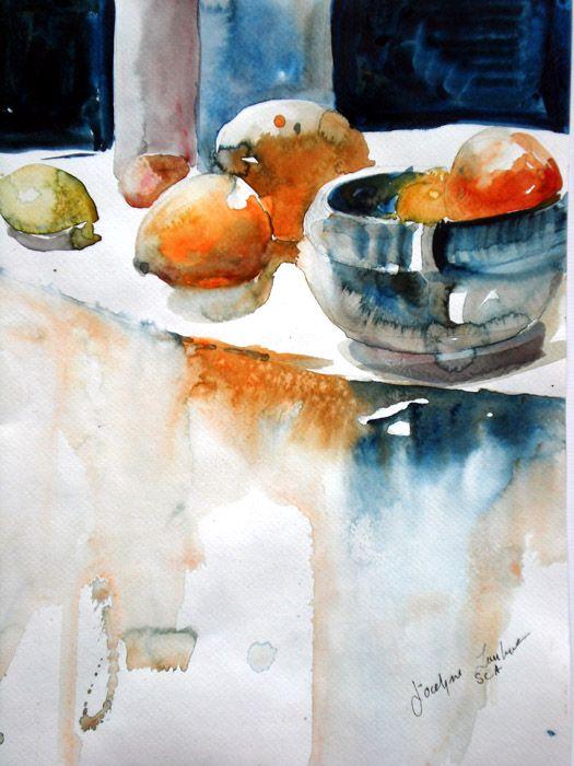 Lambert Jocelyne Sca 06 Www Aquarelle Ca Fruits Aquarelle