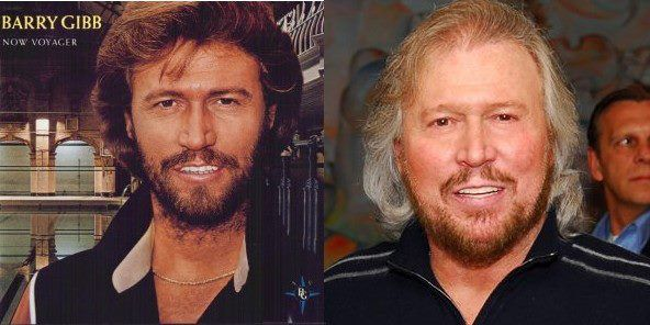 Barry Then And Now Barry Gibb Andy Gibb Singer