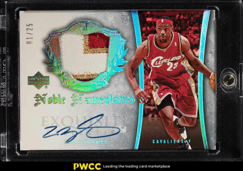 2005 Exquisite Collection Noble Nameplates LeBron James