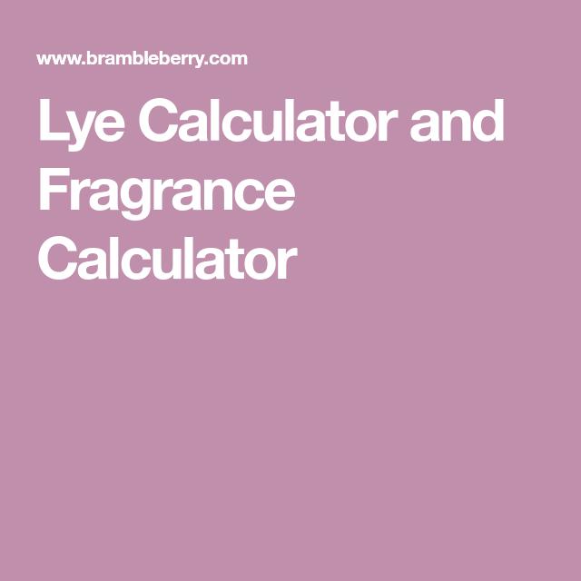 Lye Calculator and Fragrance Calculator | ___My DEłKø___