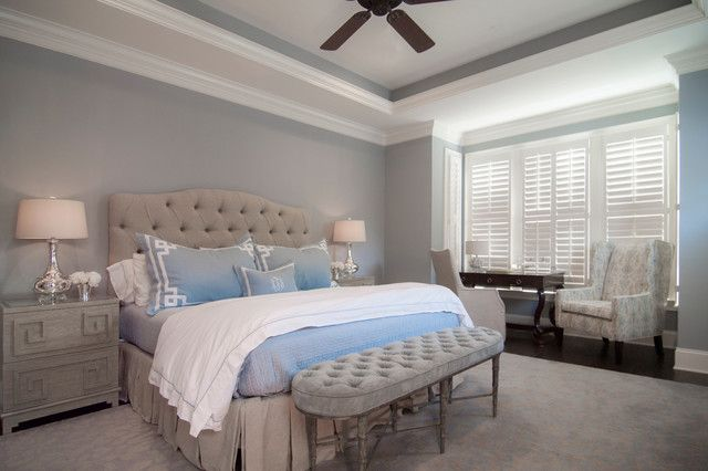 incredible grey brown bedroom | Incredible Brown Padded Transitional Bedroom Interior with ...
