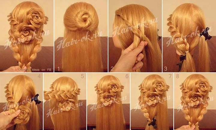 How to do pretty flower braid hairstyles step by step diy tutorial how to do pretty flower braid hairstyles step by step diy tutorial instructions how to how to do diy instructions crafts do it yourself diy website solutioingenieria Images