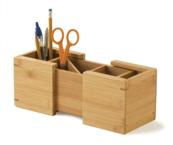 August Grove Vollmer Bamboo Expandable Pencil Holder In 2020 Pencil Holder Desktop Organization Pencil Organizer
