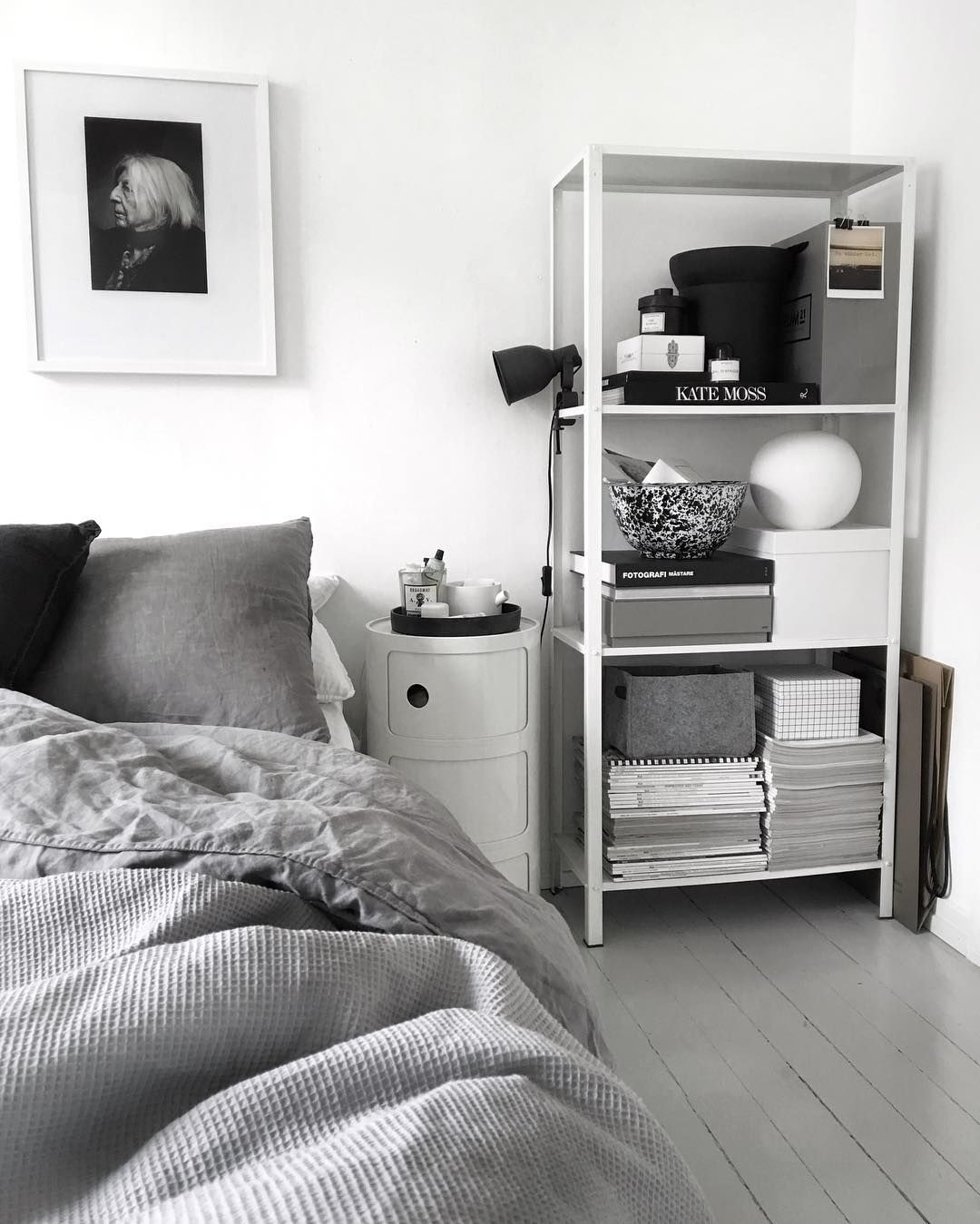 Bedroom Art Ikea: Ikea 'Hyllis' Metallic Shelf In Bedroom By @49kvadrat