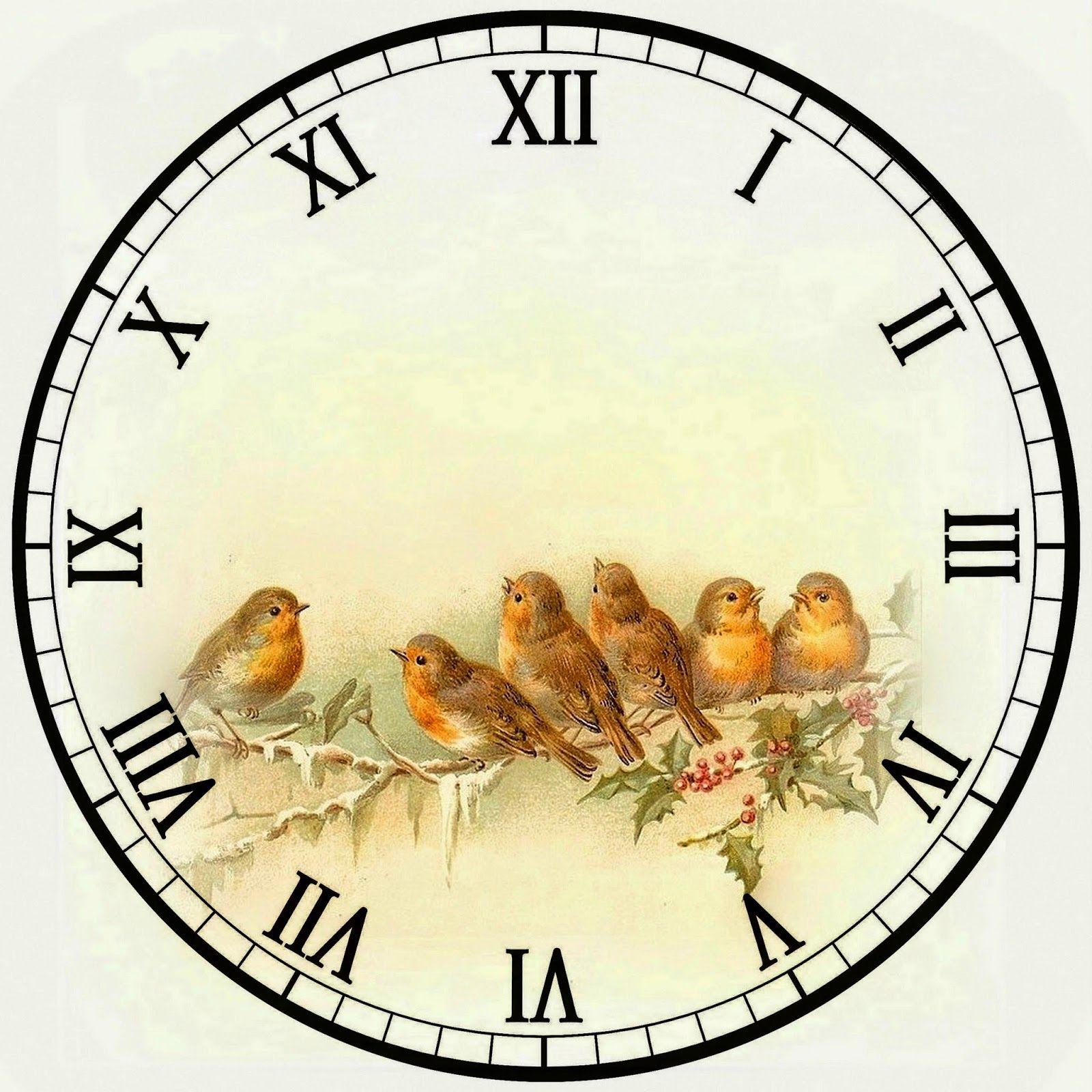 Циферблаты часов с картинками