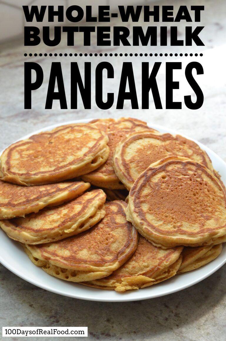 Whole Wheat Buttermilk Pancake Recipe Recipe Buttermilk Pancakes Pancake Recipe Buttermilk Real Food Recipes
