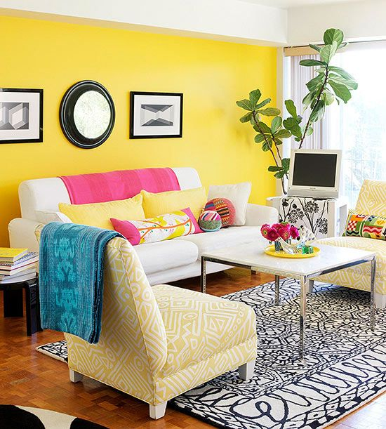 yellow paint colors colourful living room living room on living room color schemes id=19782