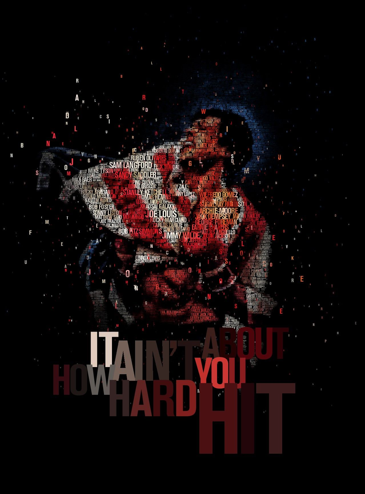 Muhammad Ali Wallpaper Hd Iphone It Aint About How Hard You Hit By Juanosborne Deviantart