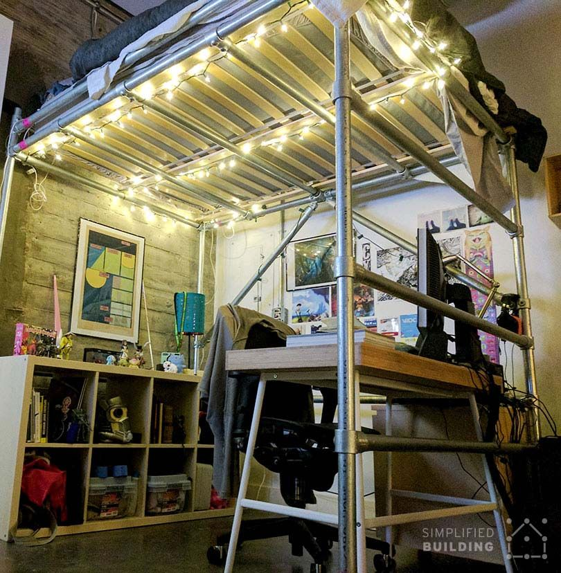 DIY Full-Size Loft Bed for Adults (with Plans to Build Your Own)