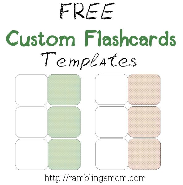 Printable Small Flashcard Template  Papiri abloni