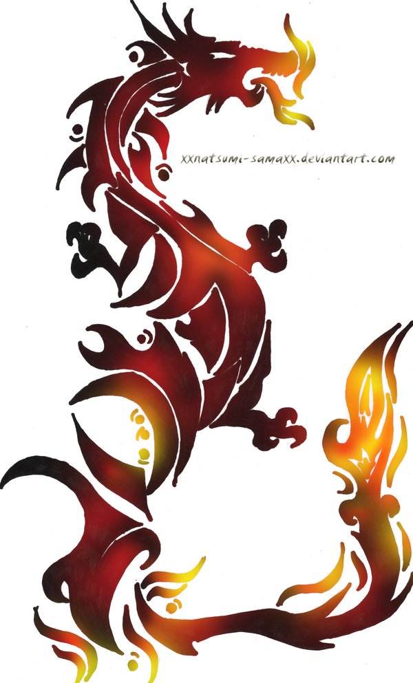 fire dragon tattoo by audelade on deviantart dragons