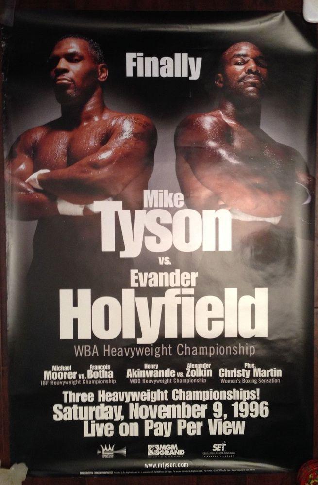 Mike Tyson Vs Evander Holyfield Poster