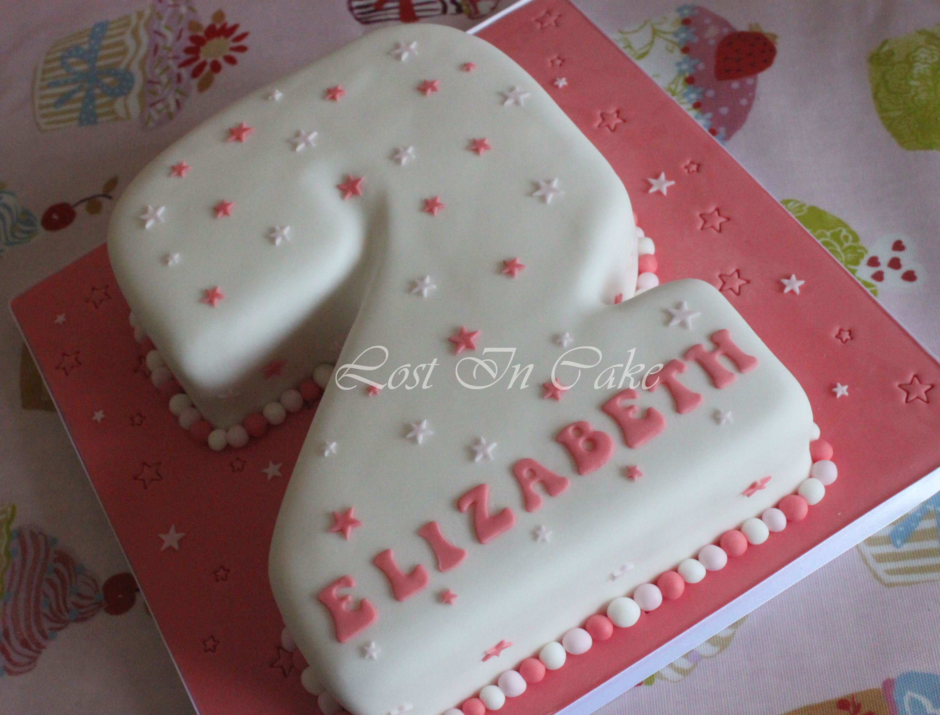 Pink White Star Number 2 Shaped Cake Nathan In 2018 Pinterest