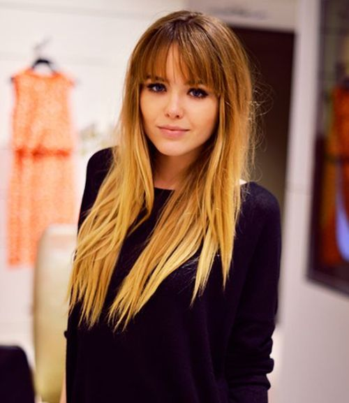 Full Fringe Ombre Hairstyles For Women Hair And Beauty Pinterest