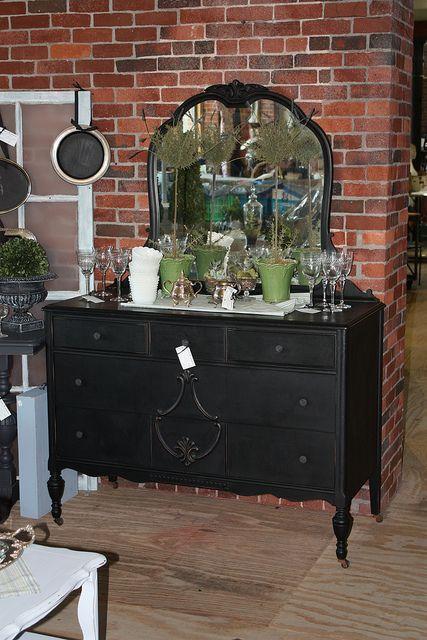 Best Black Distressed Dresser W Mirror Shabby Chic Dresser 640 x 480