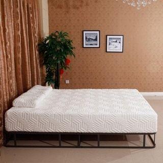 Traditional Firm 10 Inch Firm Gel Memory Foam Mattress Pad W 2