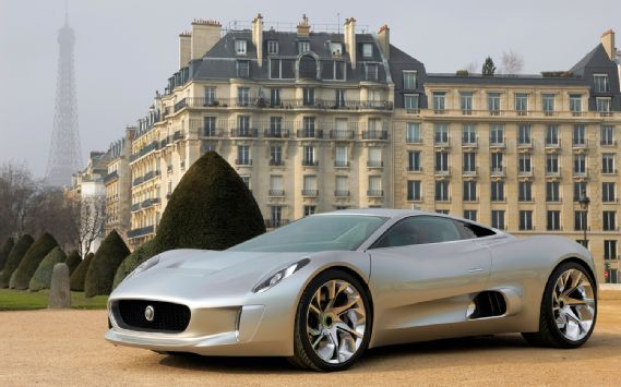 If Only Jaguar Would Build The C X75 With Jet Engines.