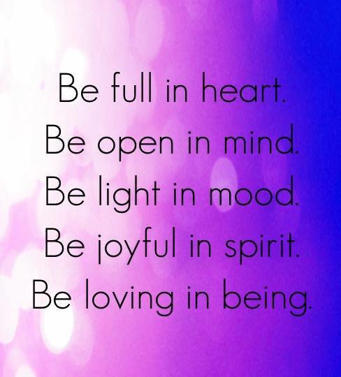 My spirit is joyful!