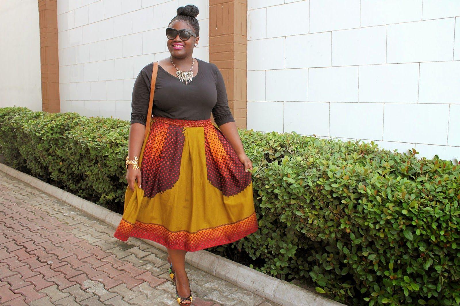 African Print Maxi Skirt Plus Size February 2014 Fashion Rehab