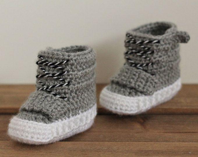 Crochet PATTERN baby boys booties \