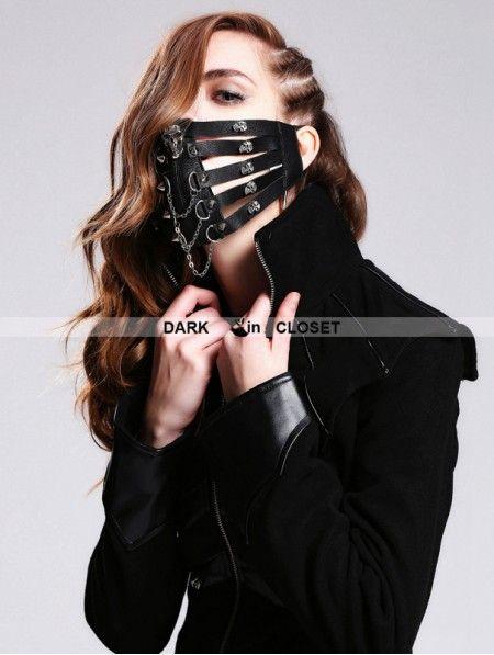 Punk Gothic Steampunk Steam Rock Women//men stylish Chain Spike Costume MASK
