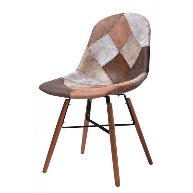 Chaise Design Simili Cuir Patchwork Chaise Design Chaise Cuir Simili Cuir