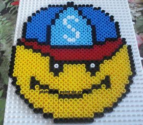 Perle a repasser 15 mai 2011 smiley perleplader pinterest perler beads beads and pony beads - Perle a repasser smiley ...