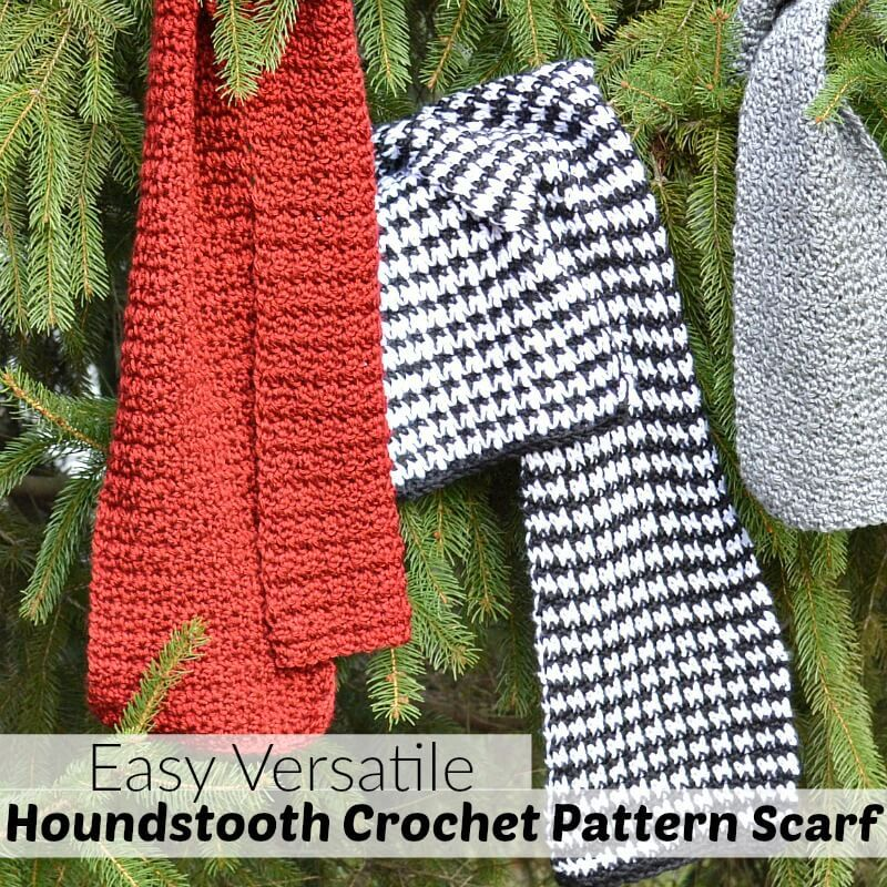 Easy Houndstooth Crochet Pattern Scarf | Long car trips, Houndstooth ...