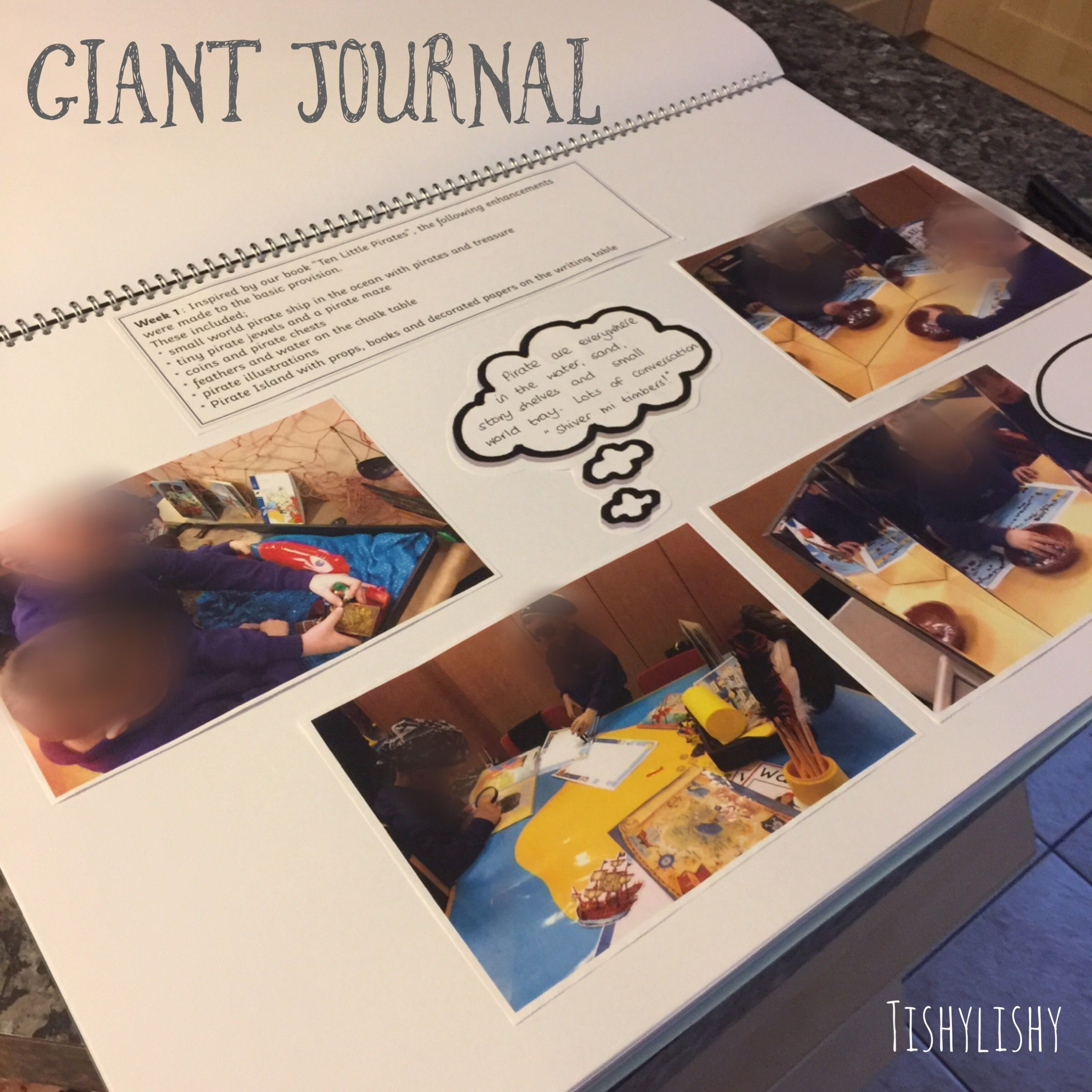 Class journal a big floor book documenting weekly