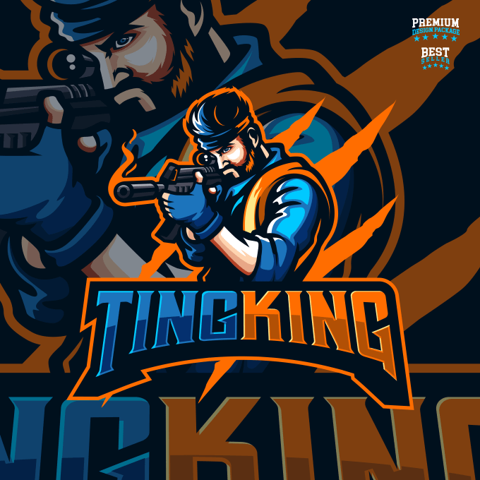 Design your twitch,gaming,esports, sports mascot logo by