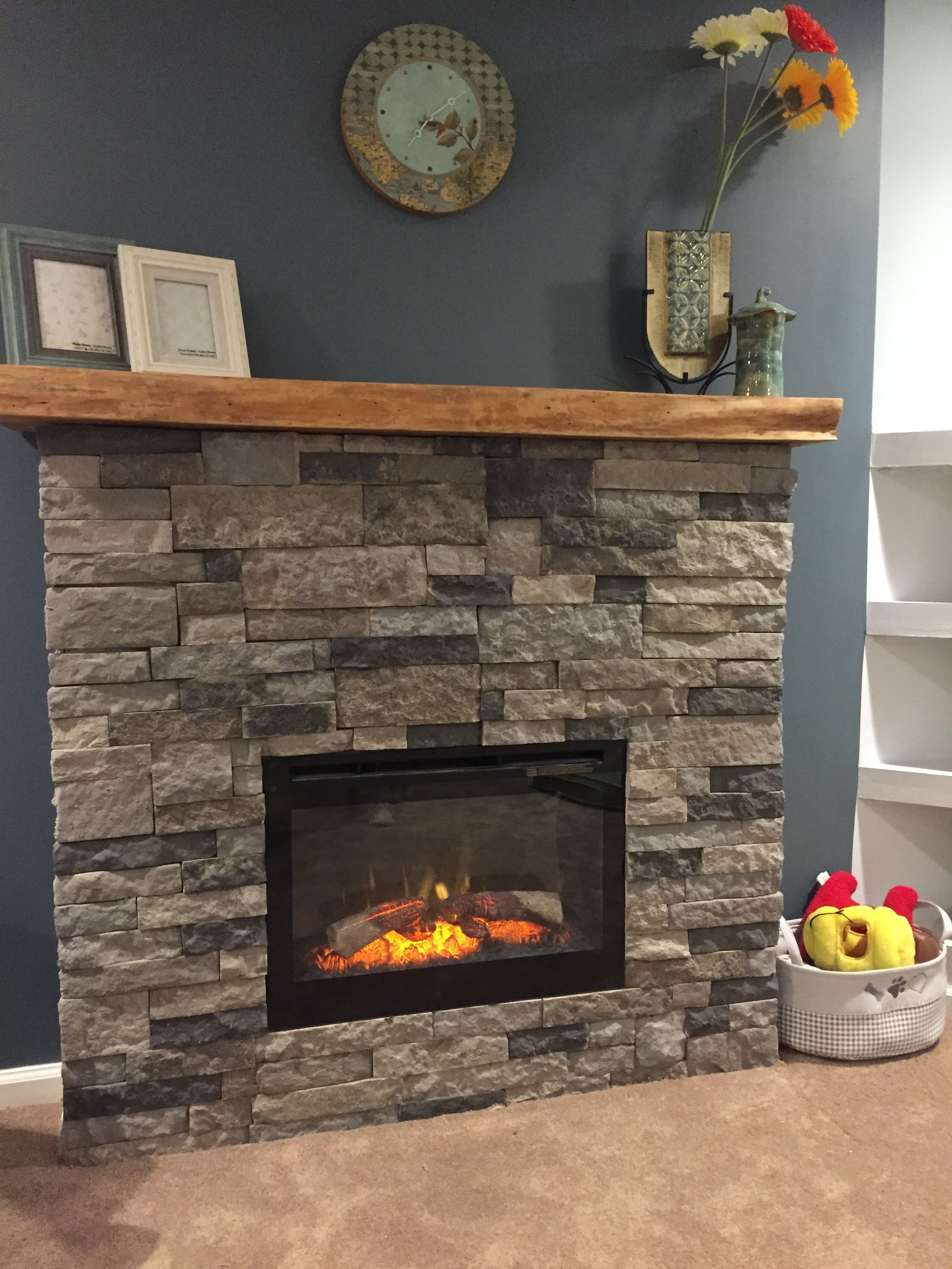 So much fun!! DIY airstone electric fireplace, ambroise maple ...
