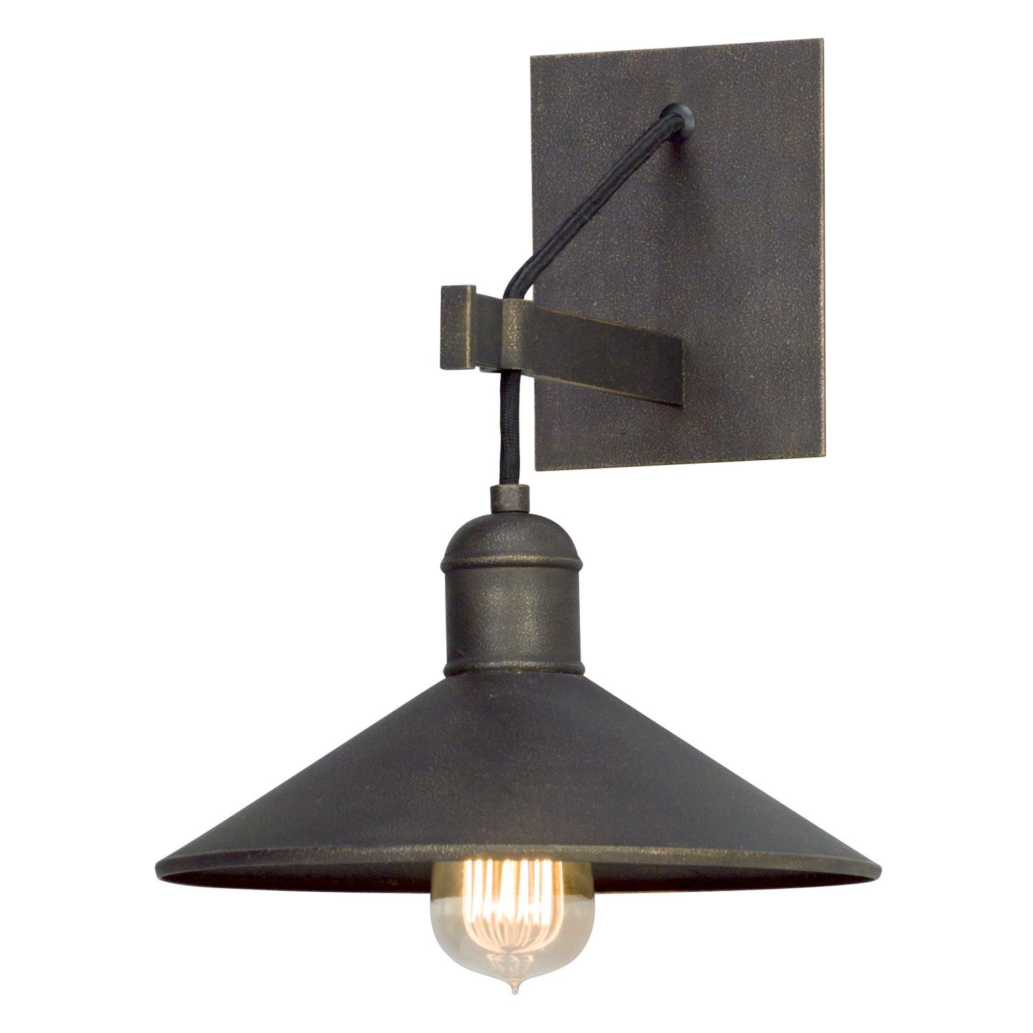 Troy B5421 Mccoy 1 Light Wall Sconce In Vintage Bronze Troy