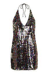 **Allie Glitter Slip Dress by Motel