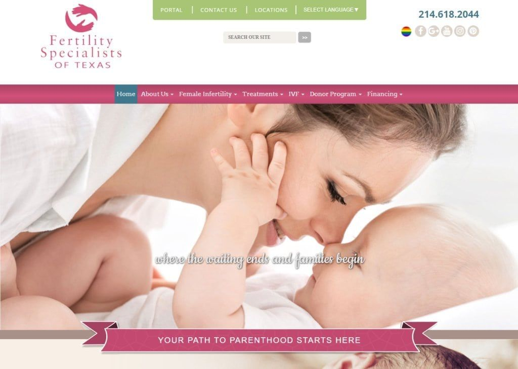 Specialty Obgyn Color Theme Pink Style Colorful Vivid Modern Features Special Effects Rich Website Design Obgyn Pink Fashion