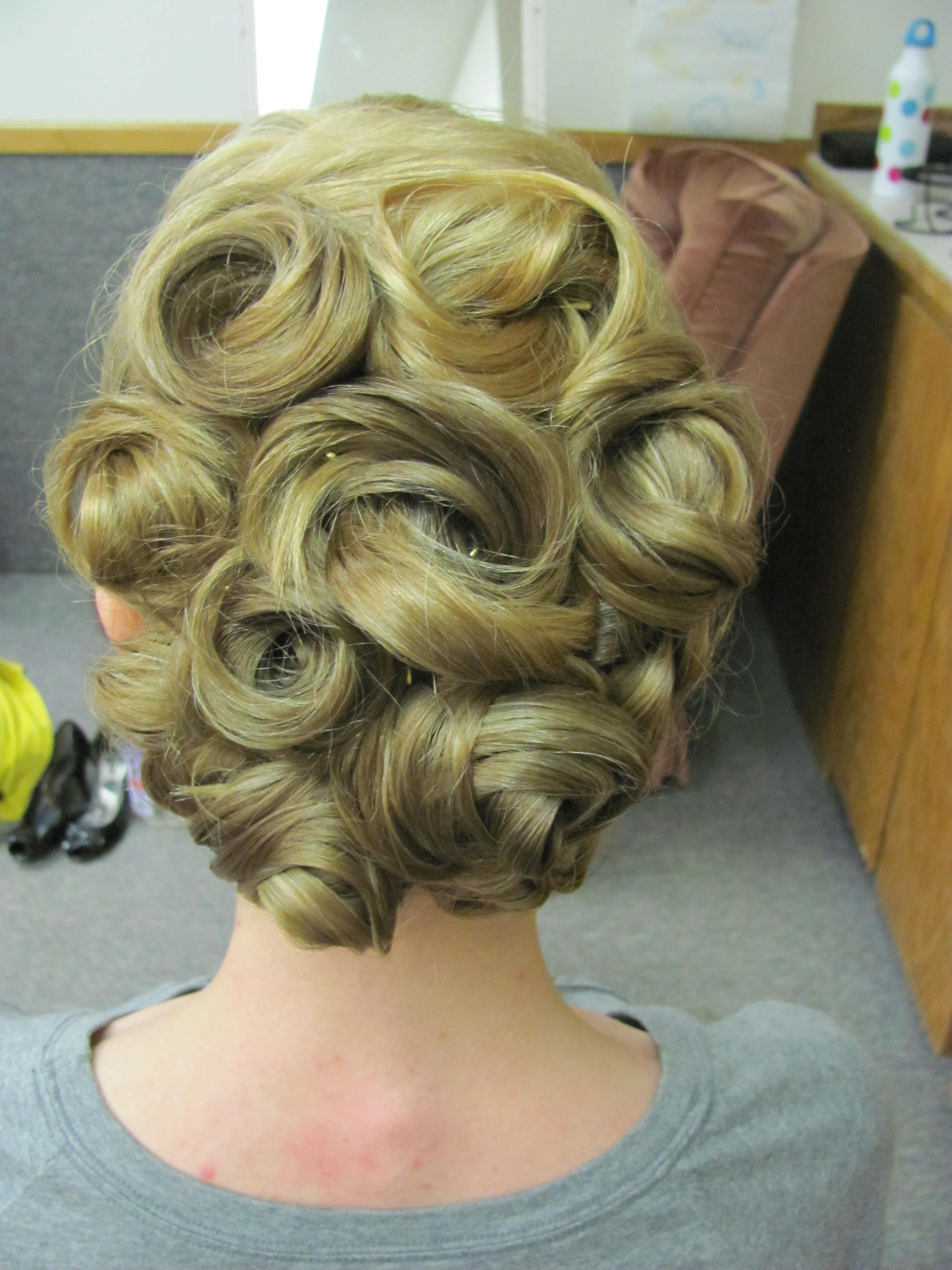 pin curl updo   Pin curl updo, Curled updo, Hair styles