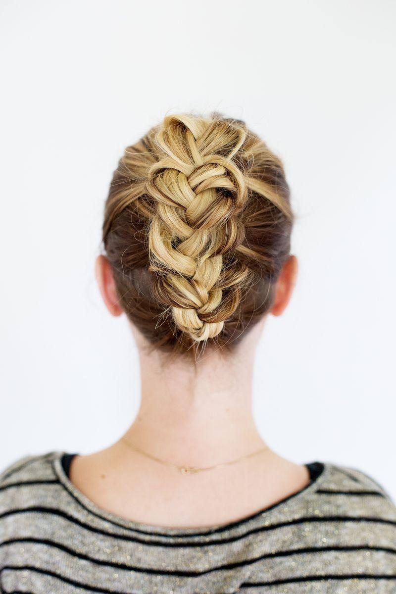 Tucked braid updo for medium length hair a beautiful mess hair