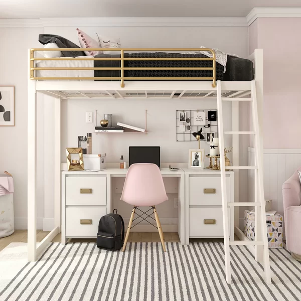 The Scene Is Set For The Perfect Friday Night Netflix Is Ready To Roll With The Latest Must See Series And Girls Loft Bed Loft Beds For Teens White Loft Bed