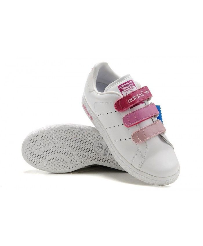 Adidas Stan Smith Pink Magic Stick Trainers  cf43d4aee40c