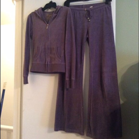 Victoria Secret Plush & Lush lavender velour set Size M lavender VS plush Lush velour lounge set. Zip up jacket and drawstring pants. Perfect condition with NO flaws and NO wear to hems!!!! So super soft and comfy!  Worn only a couple times and both times hand washed in cold water and hung dry. I have a bunch of these, so have to let a few go :) Victoria's Secret Other