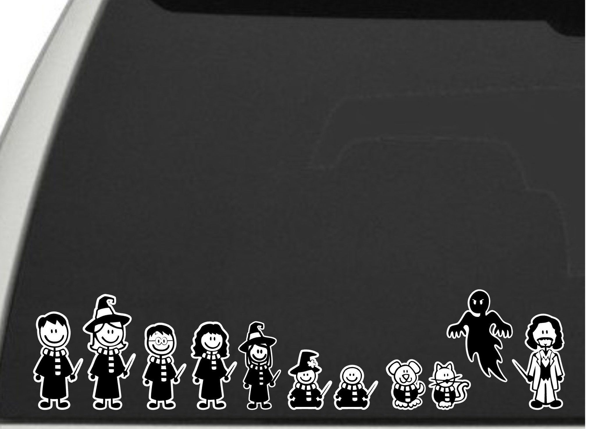 Wizard Stick Figure Family Decal For Car Window Decal Vinyl Etsy Family Car Decals Family Decals Stick Figure Family [ 1477 x 2032 Pixel ]