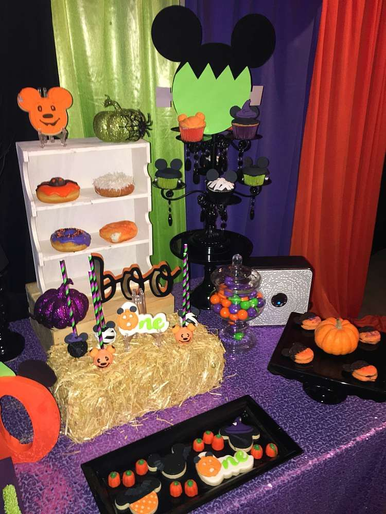 Mickey Mouse Birthday Party Ideas Photo 1 Of 7 Halloween Themed Birthday Party Birthday Halloween Party Mickey Mouse Birthday Party