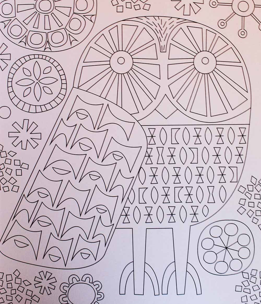 Mid-century modern coloring books for adults - new from Jenn Ski ...