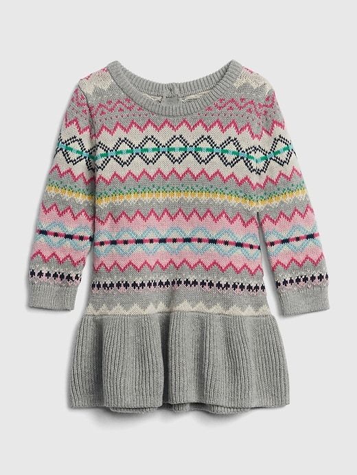 98c05b662 Fair Isle Peplum Sweater