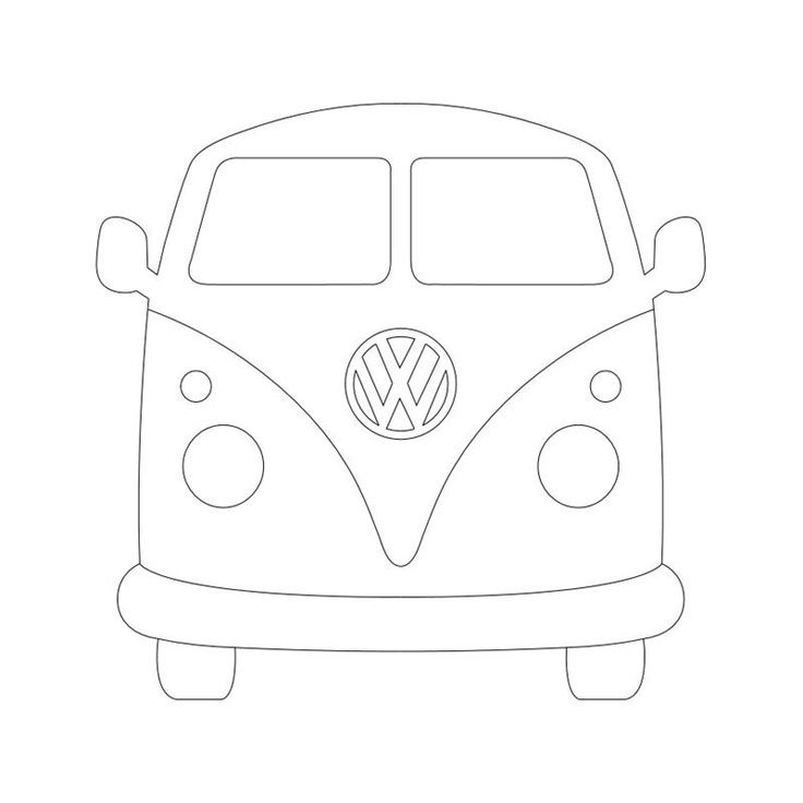 VW BUS | Silhouettte Cameo und Pazzles Inspiration Files #coloringpagestoprint