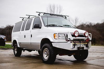 2001 Ford E Series Van 73 DIESEL 4x4 QUIGLEY CONVERSION ADVENTURE CAMPER