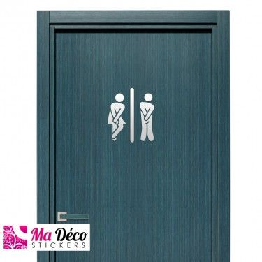Projets Idee Wc Humour Drole Decoration Stickers Toilettes Porte
