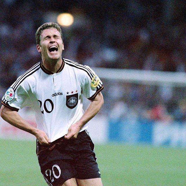 Oliver Bierhoff Scoring The Winning Goal Against Czech Republic At Wembley Euro 96 Bierhoff Oliverbierhoff Germany Germanfootball Germannationalteam Foo